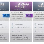 Pricing Tables Professionally Designed 11 PSD's