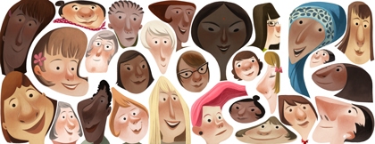 Women's Day as a Google Doodles www.redashes.com