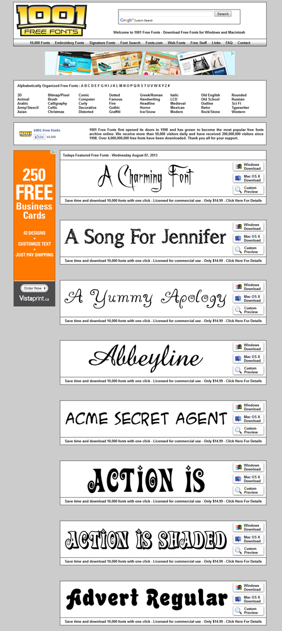 Download Free Fonts at www.1001freefonts.com