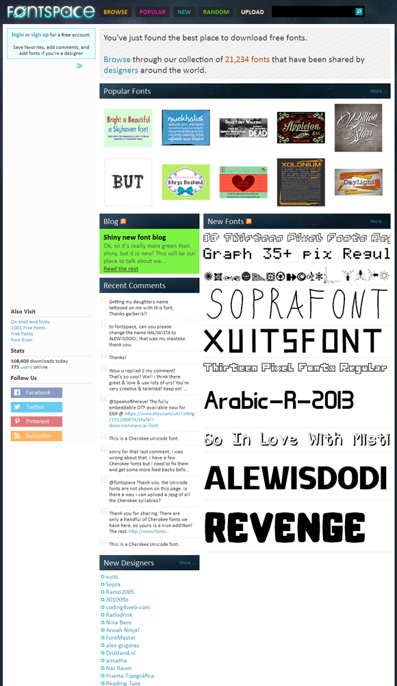Visit www.redashes.com to see the best top 10 font sites online!