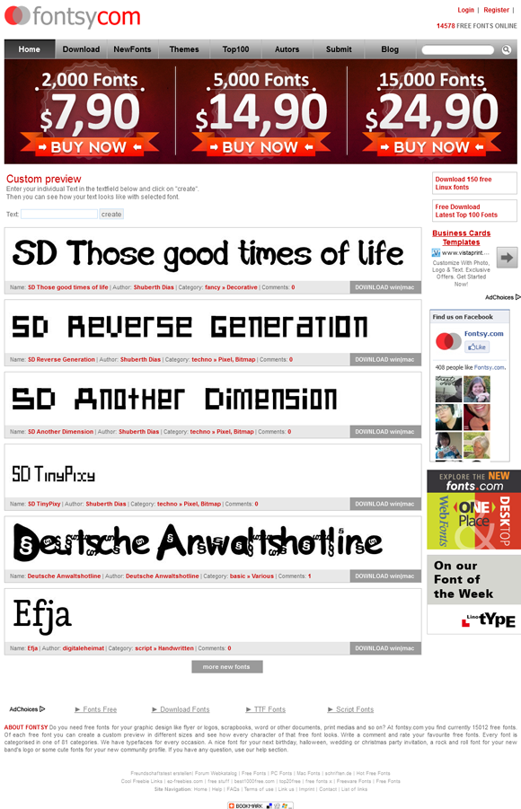 Free fonts for download at www.redashes.com