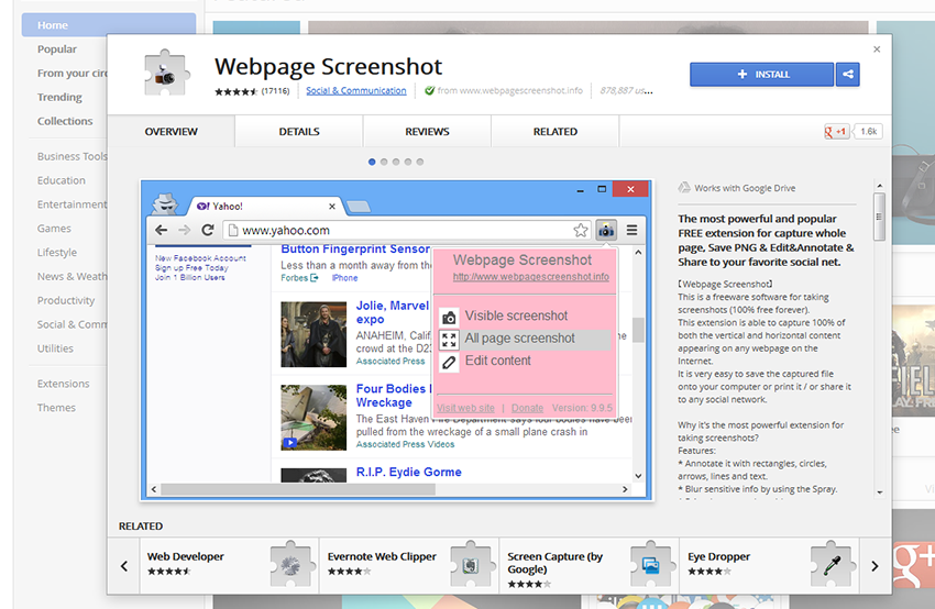Webpage Screenshot software from Chrome, Download Now!